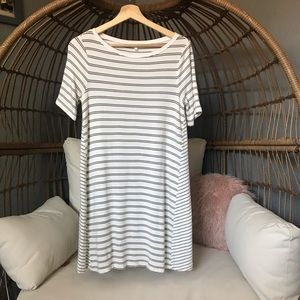 Super Soft Lou and Grey Striped Shift Dress